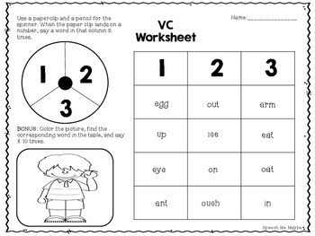 Print and Go Apraxia Worksheets