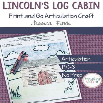 Print and Go Articulation Craft: Lincoln's Log Cabin