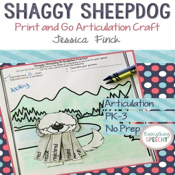 Print and Go Articulation Craft: Shaggy Sheepdog