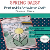 Print and Go Articulation Craft: Spring Daisy