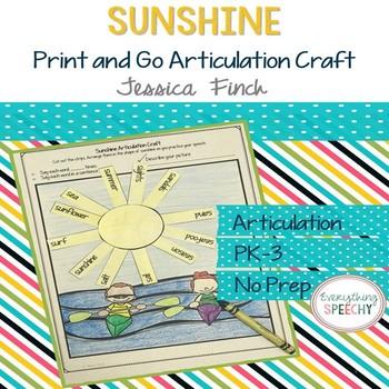 Print and Go Articulation Craft: Sunshine