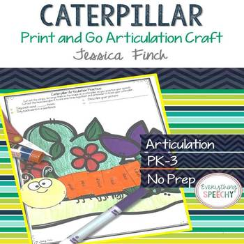 Print and Go Articulation Craft: Caterpillar