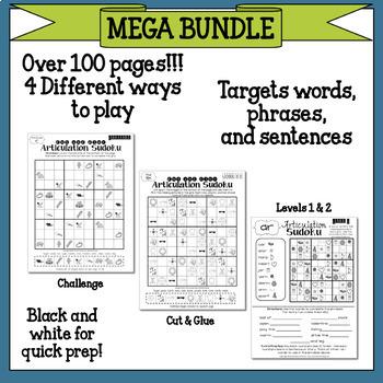 No Prep Articulation Sudoku MEGA BUNDLE