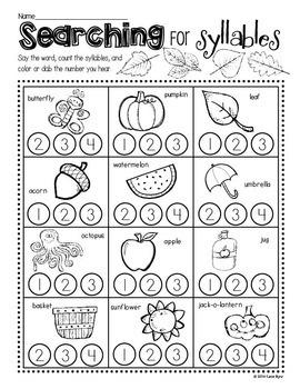 Print and Go! BUNDLE: Fall Math and Literacy (NO PREP)