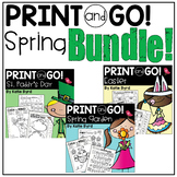 Print and Go! BUNDLE: Spring Math and Literacy (NO PREP)