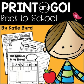 Print and Go! Back to School Math and Literacy (NO PREP)