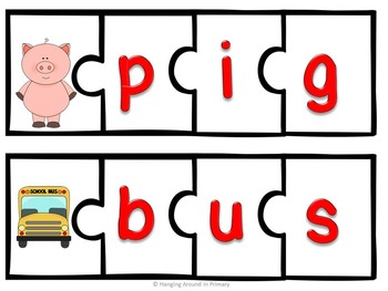 Back to School Puzzle Literacy Centers