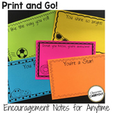 Print and Go! Black and White Encouragement Notes for Anytime