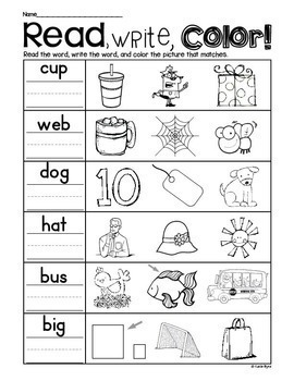 Print and Go! BUNDLE: CVC Word Work and Literacy Practice (NO PREP)