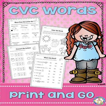 Print and Go CVC Words