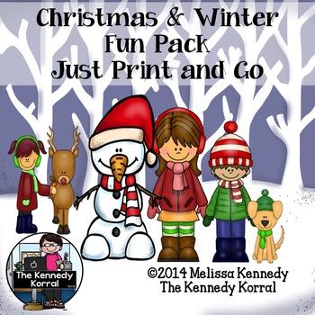 ELA and Math Christmas Fun Pack