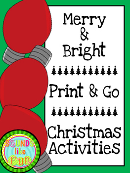 Print and Go Christmas Activities: Merry and Bright