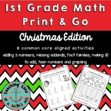 Print and Go 1st Grade Christmas Math Activities