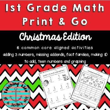 Print and Go 1st Grade Christmas Math Activities
