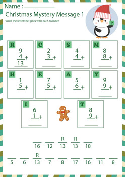 Print and Go Christmas Math and Literacy Packet ( Grade 1 )