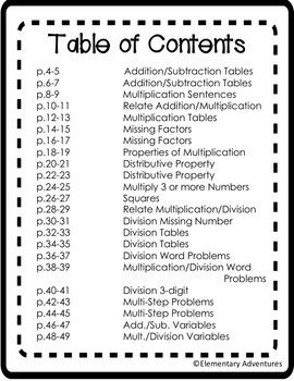 Print and Go Common Core - Operations and Algebraic Thinking