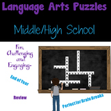 Print and Go ELA Middle High School Word Puzzles Set 1- cr