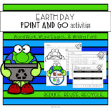 Earth Day Word Work and Writing Activities: Print and Go!