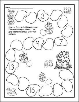 Print and Go! Easter Math and Literacy (NO PREP)