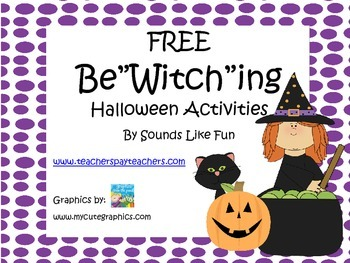 """Print and Go FREE: Be'Witching"""" Halloween Activities"""