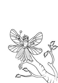 Free Printable Fairy Coloring Pages For Kids | Fairy coloring ... | 350x247