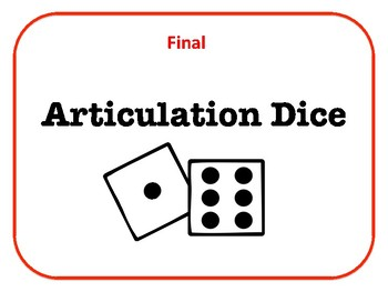 Print and Go Final Position Articulation Dice