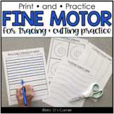 Print and Go Fine Motor Practice for Tracing and Cutting |