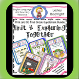 Journeys 1st Grade Unit 4   Exploring Together Bundle