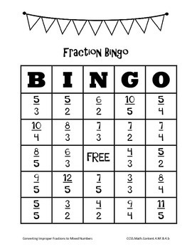 Print-and-Go Fraction Bingo