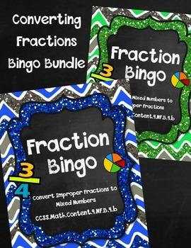 Print-and-Go Fraction Bingo Bundle