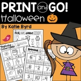 Print and Go! Halloween Math and Literacy (NO PREP)