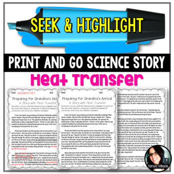 Seek & Highlight Story Heat Transfer/ Energy CONVECTION, CONDUCTION, & RADIATION