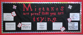 Print and Go High School Math Bulletin Board Mistakes Are Proof You Are Trying