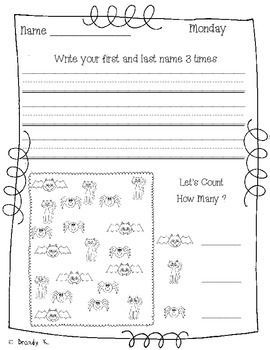 NO PREP: Print and Go Homework/Morning Work FREEBIE