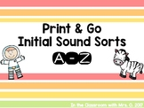 Print and Go! Initial Sound Sorts