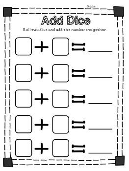 Dice Math Packet