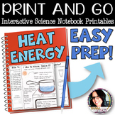 Print and Go Interactive Science Sheets for Heat Energy/ H