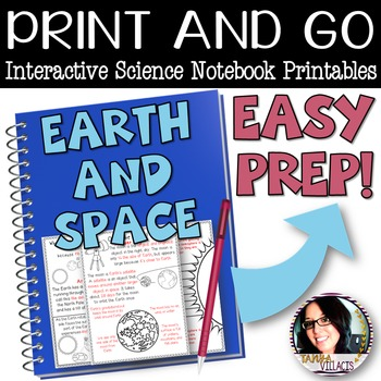 Print and Go Interactive Sheets Earth and Space (Rotation