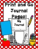 Print and Go Journal Pages!