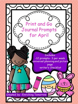 Print and Go Journal Prompts for April
