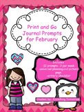 Print and Go Journal Prompts for February