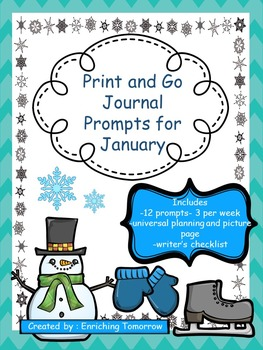 Print and Go Journal Prompts for January
