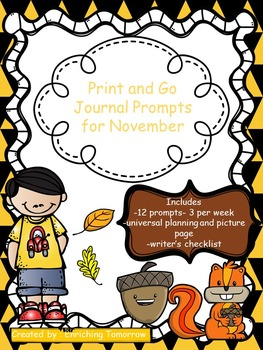 Print and Go Journal Prompts for November
