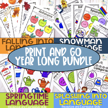 Print and Go Language For The Year Bundle