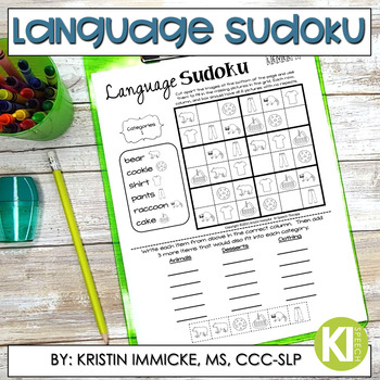 Print and Go Language Sudoku - No Prep Language Practice