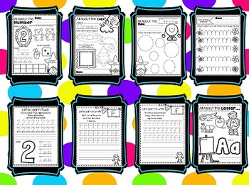 Print and Go Letters, Shapes, Numbers and Colors BUNDLE