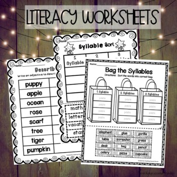 Language Arts Worksheets by Teaching Second Grade | TpT