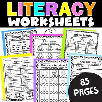 Language Arts Worksheets