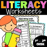 Language Arts Worksheets Packet: 1st and 2nd Grade