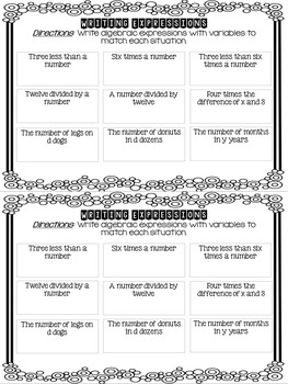 Print and Go Math Booklet: Operations and Algebraic Thinking